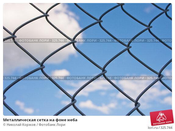 Металлическая сетка на фоне неба, фото № 325744, снято 13 июня 2008 г. (c) Николай Коржов / Фотобанк Лори