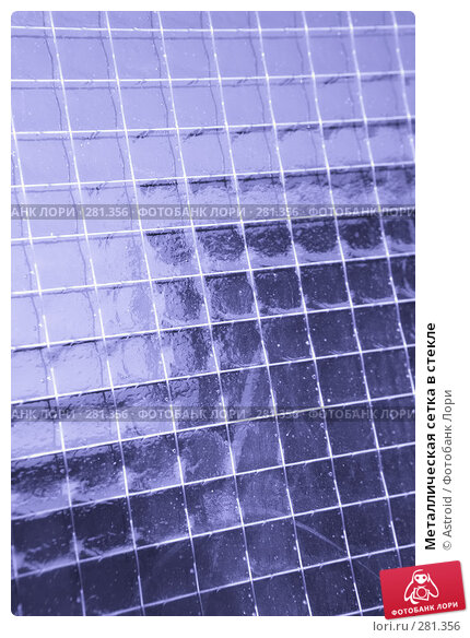 Металлическая сетка в стекле, фото № 281356, снято 11 мая 2008 г. (c) Astroid / Фотобанк Лори