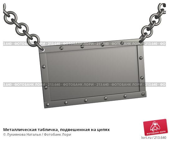 Металлическая табличка, подвешенная на цепях, иллюстрация № 213640 (c) Лукиянова Наталья / Фотобанк Лори
