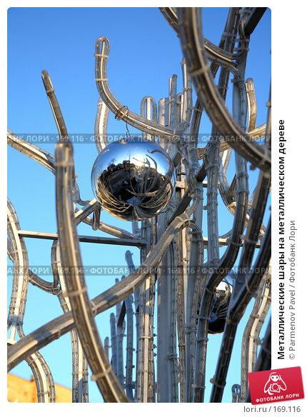 Металлические шары на металлическом дереве, фото № 169116, снято 3 января 2008 г. (c) Parmenov Pavel / Фотобанк Лори