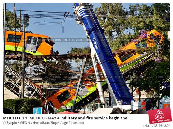 MEXICO CITY, MEXICO - MAY 4: Military and fire service begin the ... Редакционное фото, фотограф Eyepix / WENN / age Fotostock / Фотобанк Лори