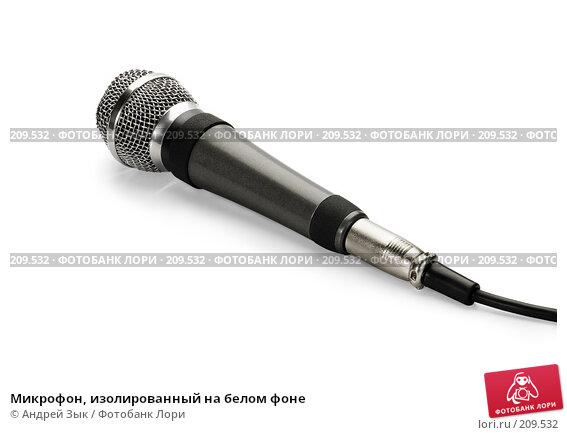 Микрофон, изолированный на белом фоне, фото № 209532, снято 28 марта 2007 г. (c) Андрей Зык / Фотобанк Лори