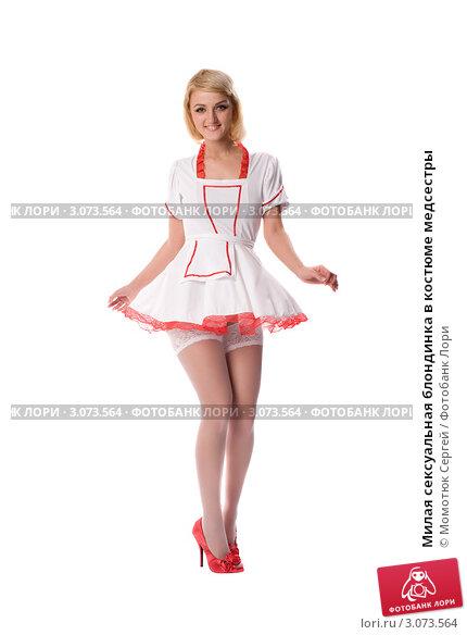 блондинок медсестры костюме фото в