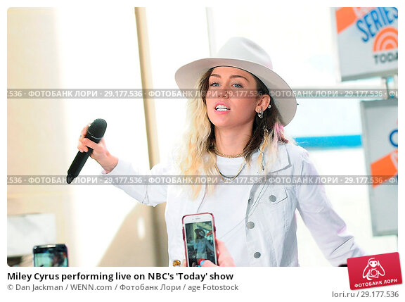 Miley Cyrus performing live on NBC's 'Today' show ...