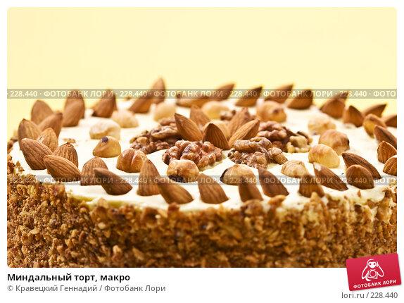 Миндальный торт, макро, фото № 228440, снято 6 сентября 2005 г. (c) Кравецкий Геннадий / Фотобанк Лори