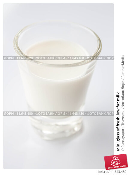 Купить «Mini glass of fresh low fat milk», фото № 11643480, снято 18 апреля 2019 г. (c) PantherMedia / Фотобанк Лори