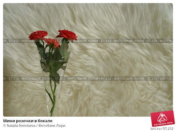 Мини розочки в бокале, эксклюзивное фото № 57212, снято 28 февраля 2007 г. (c) Natalia Nemtseva / Фотобанк Лори