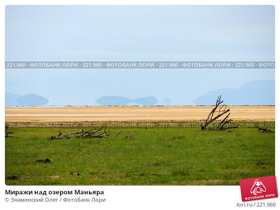 Миражи над озером Маньяра, эксклюзивное фото № 221960, снято 21 января 2008 г. (c) Знаменский Олег / Фотобанк Лори