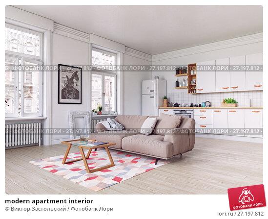 Купить «modern apartment interior», фото № 27197812, снято 18 ноября 2017 г. (c) Виктор Застольский / Фотобанк Лори