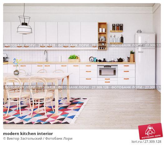 Купить «modern kitchen interior», фото № 27309128, снято 13 января 2018 г. (c) Виктор Застольский / Фотобанк Лори