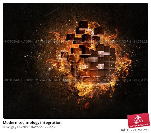 Купить «Modern technology integration», иллюстрация № 21754296 (c) Sergey Nivens / Фотобанк Лори