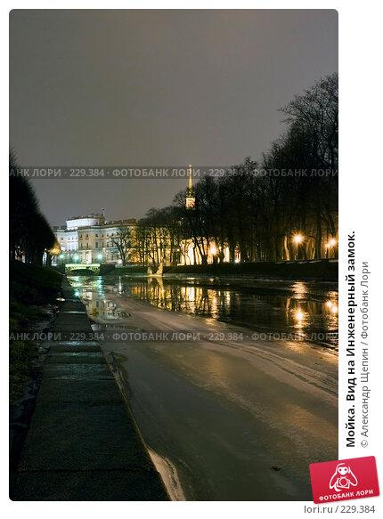 Мойка. Вид на Инженерный замок., эксклюзивное фото № 229384, снято 12 января 2008 г. (c) Александр Щепин / Фотобанк Лори