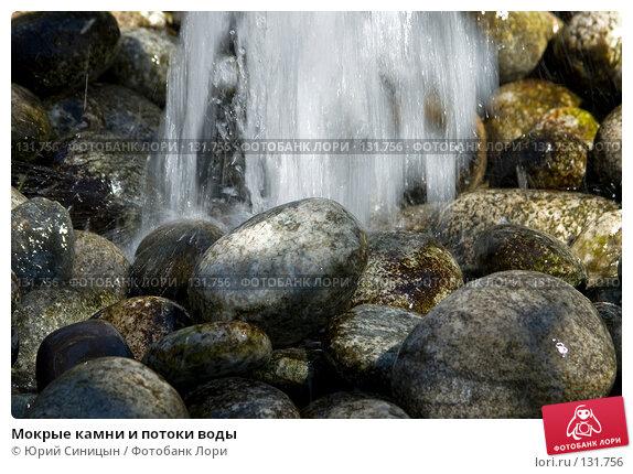 Купить «Мокрые камни и потоки воды», фото № 131756, снято 9 августа 2007 г. (c) Юрий Синицын / Фотобанк Лори