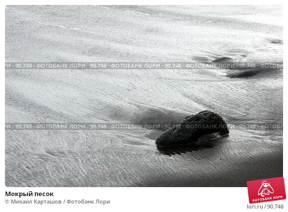 Купить «Мокрый песок», эксклюзивное фото № 90748, снято 3 августа 2007 г. (c) Михаил Карташов / Фотобанк Лори