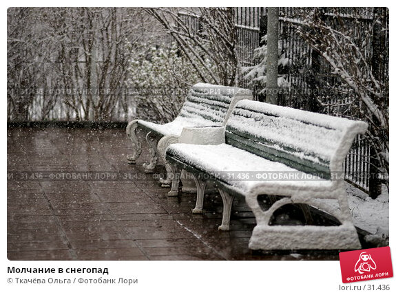 Купить «Молчание в снегопад», фото № 31436, снято 8 апреля 2007 г. (c) Ткачёва Ольга / Фотобанк Лори