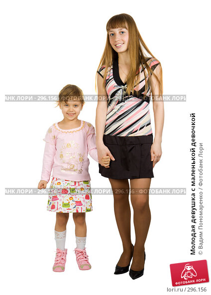 Молодая девушка с маленькой девочкой, фото № 296156, снято 16 декабря 2007 г. (c) Вадим Пономаренко / Фотобанк Лори