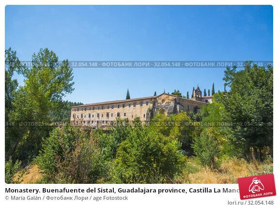 Monastery. Buenafuente del Sistal, Guadalajara province, Castilla La Mancha, Spain. Стоковое фото, фотограф María Galán / age Fotostock / Фотобанк Лори