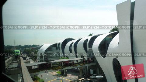 Купить «Monorail train to Sentosa Island, Singapore», видеоролик № 29918824, снято 24 ноября 2018 г. (c) Игорь Жоров / Фотобанк Лори