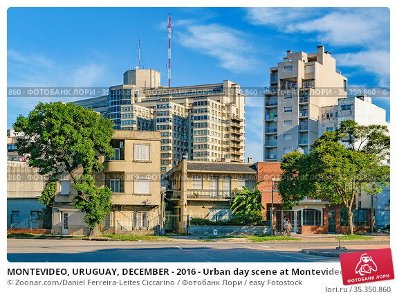 MONTEVIDEO, URUGUAY, DECEMBER - 2016 - Urban day scene at Montevideo... Стоковое фото, фотограф Zoonar.com/Daniel Ferreira-Leites Ciccarino / easy Fotostock / Фотобанк Лори