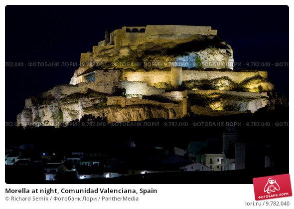 Купить «Morella at night, Comunidad Valenciana, Spain», фото № 9782040, снято 23 февраля 2019 г. (c) PantherMedia / Фотобанк Лори