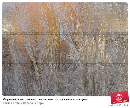 Морозные узоры на стекле, позолоченные солнцем, фото № 131248, снято 27 ноября 2007 г. (c) Kribli-Krabli / Фотобанк Лори