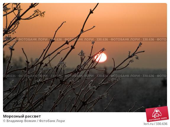 Морозный рассвет, фото № 330636, снято 6 января 2008 г. (c) Владимир Воякин / Фотобанк Лори