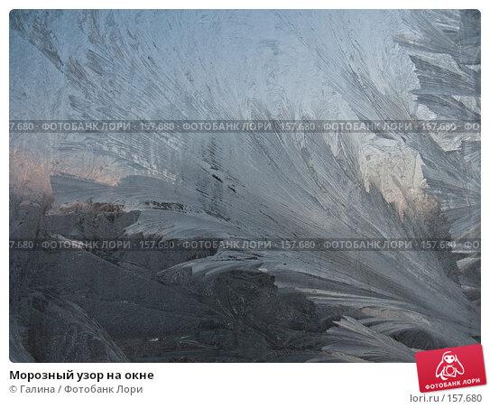 Морозный узор на окне, фото № 157680, снято 26 октября 2016 г. (c) Галина Щеглова / Фотобанк Лори