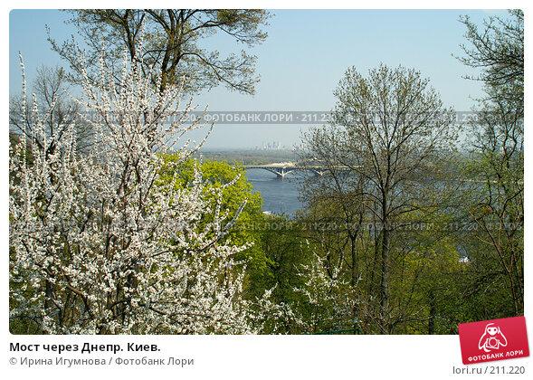 Мост через Днепр. Киев., фото № 211220, снято 30 мая 2006 г. (c) Ирина Игумнова / Фотобанк Лори