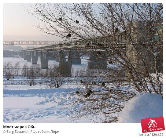 Мост через Обь, фото № 129672, снято 15 декабря 2004 г. (c) Serg Zastavkin / Фотобанк Лори