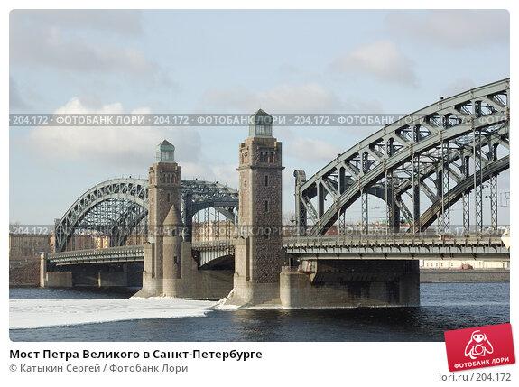 Мост Петра Великого в Санкт-Петербурге, фото № 204172, снято 16 февраля 2008 г. (c) Катыкин Сергей / Фотобанк Лори