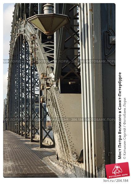 Мост Петра Великого в Санкт-Петербурге, фото № 204184, снято 16 февраля 2008 г. (c) Катыкин Сергей / Фотобанк Лори
