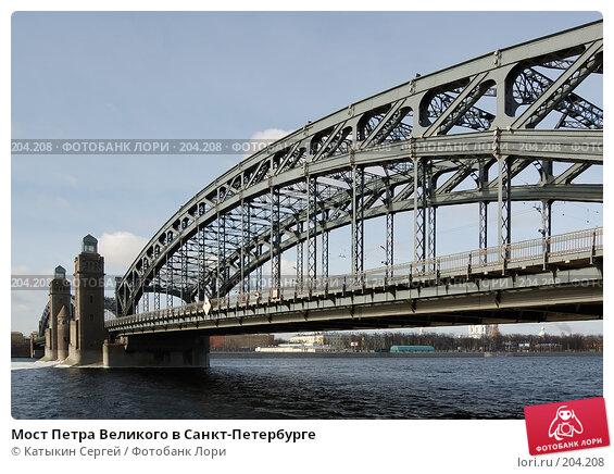 Мост Петра Великого в Санкт-Петербурге, фото № 204208, снято 16 февраля 2008 г. (c) Катыкин Сергей / Фотобанк Лори