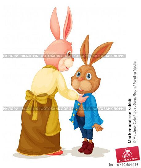 Mother and son rabbit. Стоковая иллюстрация, иллюстратор Matthew Cole / PantherMedia / Фотобанк Лори