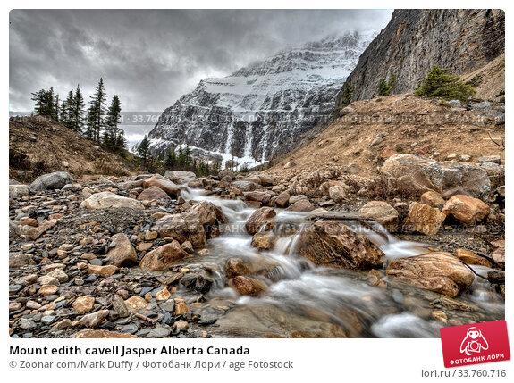 Купить «Mount edith cavell Jasper Alberta Canada», фото № 33760716, снято 3 июля 2020 г. (c) age Fotostock / Фотобанк Лори