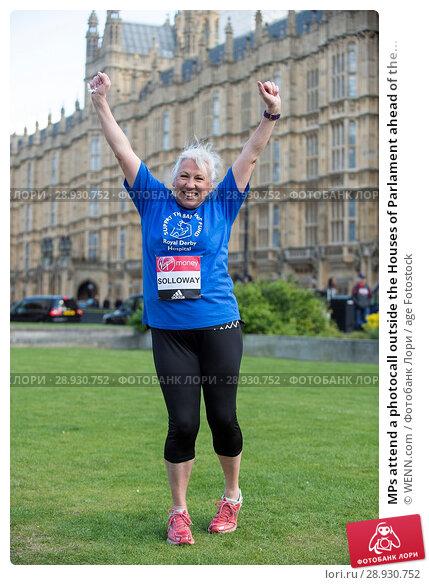 Купить «MPs attend a photocall outside the Houses of Parlament ahead of the 2017 Virgin Money London Marathon, London Featuring: Amanda Solloway Where: London...», фото № 28930752, снято 18 апреля 2017 г. (c) age Fotostock / Фотобанк Лори