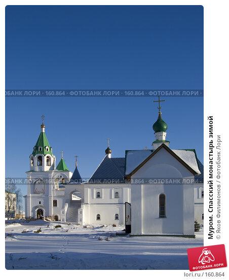 Муром. Спасский монастырь зимой, фото № 160864, снято 23 декабря 2007 г. (c) Яков Филимонов / Фотобанк Лори
