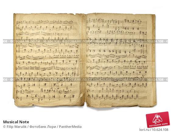 Musical Note. Стоковое фото, фотограф Filip Warulik / PantherMedia / Фотобанк Лори