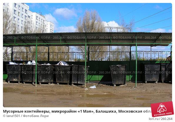 Купить «Мусорные контейнеры, микрорайон «1 Мая», Балашиха, Московская область», эксклюзивное фото № 260264, снято 22 апреля 2008 г. (c) lana1501 / Фотобанк Лори