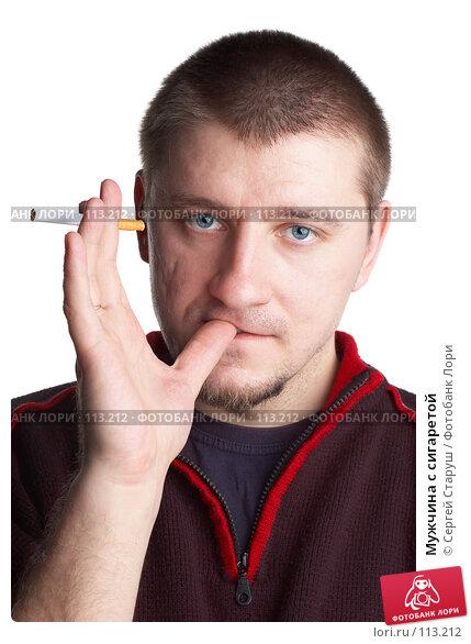 Мужчина с сигаретой, фото № 113212, снято 11 января 2007 г. (c) Сергей Старуш / Фотобанк Лори