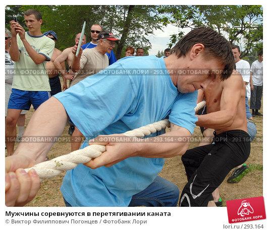 Мужчины соревнуются в перетягивании каната, фото № 293164, снято 17 июня 2007 г. (c) Виктор Филиппович Погонцев / Фотобанк Лори