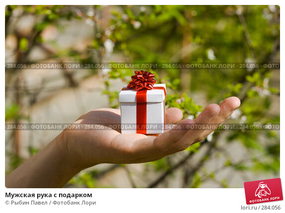 Мужская рука с подарком, фото № 284056, снято 13 мая 2008 г. (c) Рыбин Павел / Фотобанк Лори