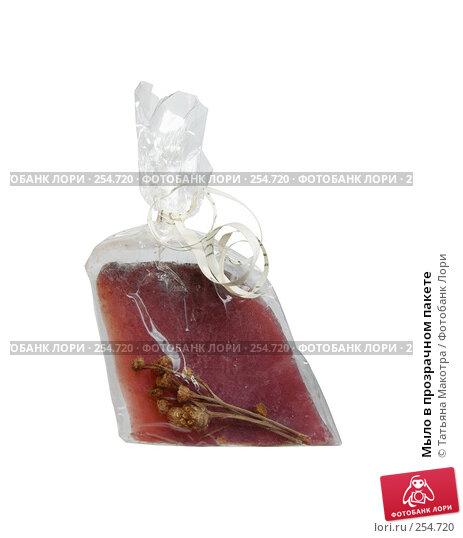 Мыло в прозрачном пакете, фото № 254720, снято 24 февраля 2008 г. (c) Татьяна Макотра / Фотобанк Лори