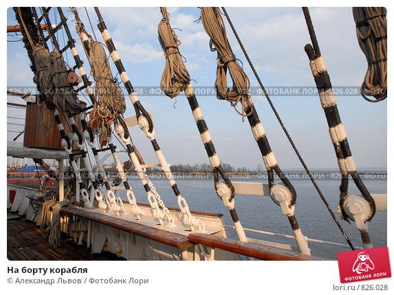 Купить «На борту корабля», фото № 826028, снято 16 апреля 2009 г. (c) Александр Львов / Фотобанк Лори