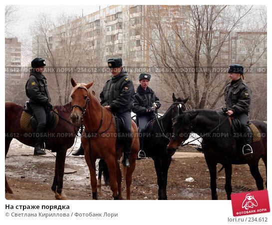 На страже порядка, фото № 234612, снято 21 января 2017 г. (c) Светлана Кириллова / Фотобанк Лори