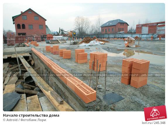 Начало строительства дома, фото № 245348, снято 5 апреля 2008 г. (c) Astroid / Фотобанк Лори