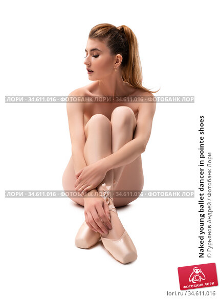 Naked young ballet dancer in pointe shoes. Стоковое фото, фотограф Гурьянов Андрей / Фотобанк Лори