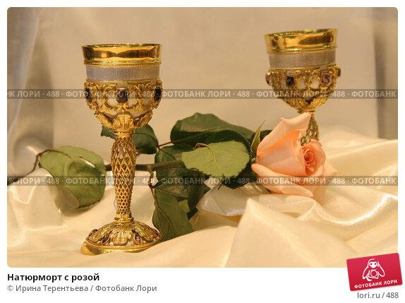 Купить «Натюрморт с розой», эксклюзивное фото № 488, снято 26 июля 2005 г. (c) Ирина Терентьева / Фотобанк Лори