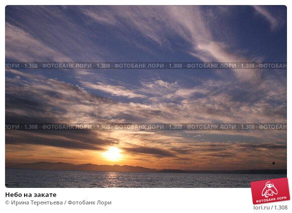 Небо на закате, эксклюзивное фото № 1308, снято 15 сентября 2005 г. (c) Ирина Терентьева / Фотобанк Лори