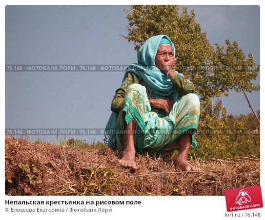 Купить «Непальская крестьянка на рисовом поле», фото № 76148, снято 3 января 2007 г. (c) Елисеева Екатерина / Фотобанк Лори