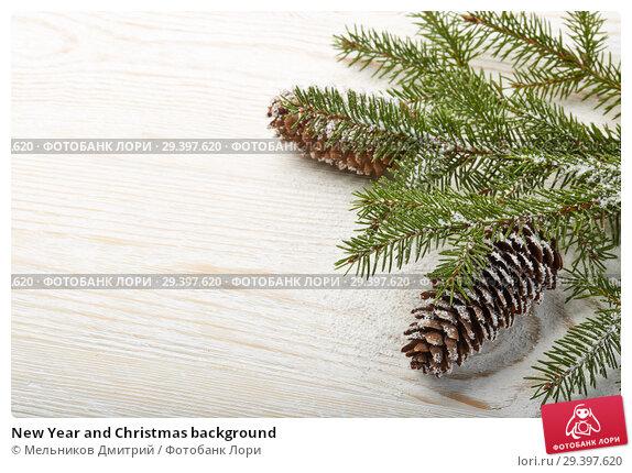 Купить «New Year and Christmas background», фото № 29397620, снято 3 ноября 2018 г. (c) Мельников Дмитрий / Фотобанк Лори